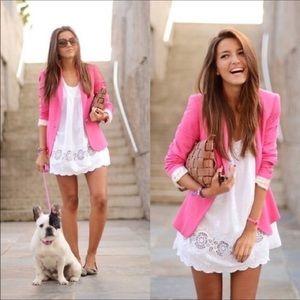 Zara Basic Pink Blazer One Button Jacket